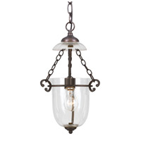 Crystorama 5761-BU-CL Signature 1 Light 10 inch Bronze Umber Pendant Ceiling Light