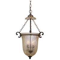 Crystorama Camden 2 Light Pendant in Bronze Umber 5762-BU