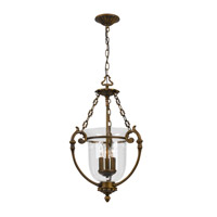 Crystorama Camden 3 Light Pendant in Antique Brass 5773-AB