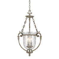 Crystorama Camden 3 Light Pendant in Antique Sliver 5773-AS