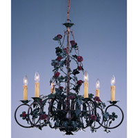 Crystorama Lighting Paris Flea Market 6 Light Chandelier in Bronze Umber 5806-BU photo thumbnail