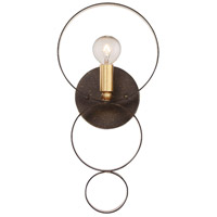 Crystorama Luna 1 Light Wall Sconce in English Bronze/Antique Gold 581-EB-GA
