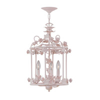 Crystorama Paris Flea Market 3 Light Mini Chandelier in Blush 5813-BH