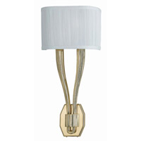 Crystorama Sterling 2 Light Wall Sconce in Polished Brass 582-PB