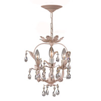 Crystorama Paris Flea Market 3 Light Mini Chandelier in Blush 5823-BH