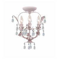 Crystorama Paris Flea Market 3 Light Flush Mount in Blush 5823-BH_CEILING