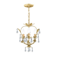 Crystorama Paris Flea Market 3 Light Mini Chandelier in Champagne 5823-CM