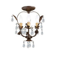 Crystorama Paris Flea Market 3 Light Flush Mount in Dark Rust 5823-DR_CEILING