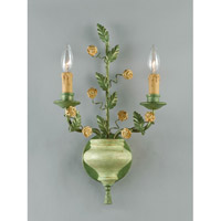 Crystorama Lighting Floral 2 Light Wall Sconce in Celedon 5832