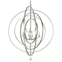 Crystorama 587-SA Luna 9 Light 48 inch Antique Silver Chandelier Ceiling Light in Antique Silver (SA)