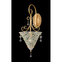 Crystorama Signature 1 Light Wall Sconce in Burnished Gold 5901-BG-PERIDOT photo thumbnail