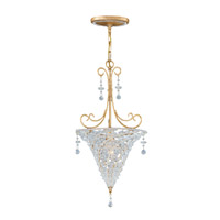 Crystorama Lighting Signature 1 Light Pendant in Burnished Gold & Clear Beads 5902-BG-CLEAR