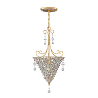 Crystorama Signature 1 Light Pendant in Burnished Gold, Hand Cut 5902-BG-VIOLET photo thumbnail