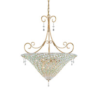 Crystorama Lighting Signature 7 Light Pendant in Burnished Gold & Peridot 5905-BG-PERIDOT photo thumbnail