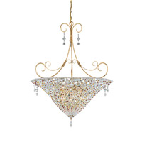 Crystorama Signature 7 Light Chandelier in Burnished Gold 5905-BG-RUBY photo thumbnail