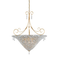 Crystorama Signature 10 Light Chandelier in Burnished Gold 5907-BG-CLEAR
