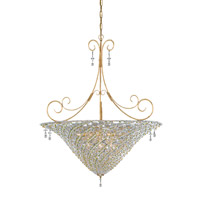 Crystorama Lighting Signature 10 Light Pendant in Burnished Gold & Peridot 5907-BG-PERIDOT