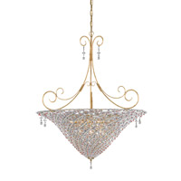 Crystorama Signature 10 Light Chandelier in Burnished Gold 5907-BG-VIOLET