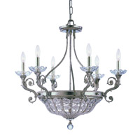 Crystorama Kingston 6 Light Chandelier in Silver Leaf 5926-OS photo thumbnail