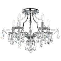 Cedar 5 Light 19 inch Polished Chrome Flush Mount Ceiling Light in Clear Swarovski Strass