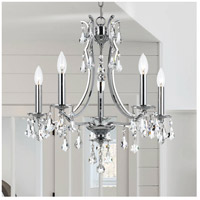 Crystorama 5935-CH-CL-S Cedar 5 Light 20 inch Polished Chrome Mini Chandelier Ceiling Light in Clear Swarovski Strass alternative photo thumbnail