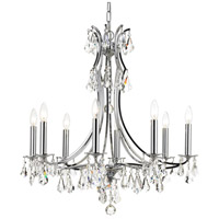 Crystorama 5938-CH-CL-MWP Cedar 8 Light 27 inch Polished Chrome Chandelier Ceiling Light in Polished Chrome (CH), Clear Hand Cut