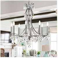 Crystorama 5938-CH-CL-MWP Cedar 8 Light 28 inch Polished Chrome Chandelier Ceiling Light in Clear Hand Cut alternative photo thumbnail