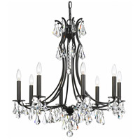 Cedar 8 Light 27 inch Vibrant Bronze Chandelier Ceiling Light in Vibrant Bronze (VZ), Clear Swarovski Strass