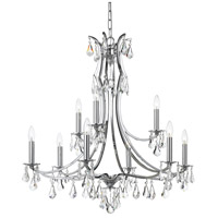 Crystorama 5939-CH-CL-MWP Cedar 9 Light 32 inch Polished Chrome Chandelier Ceiling Light in Clear Hand Cut