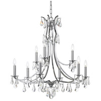 Crystorama 5939-CH-CL-S Cedar 9 Light 32 inch Polished Chrome Chandelier Ceiling Light in Clear Swarovski Strass