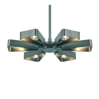 Luna 6 Light 17 inch Gray Chandelier Ceiling Light in Gray (GY)