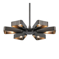 Crystorama Luna 6 Light Chandelier in Raw Steel 594-RS