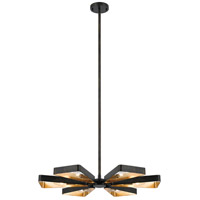 Crystorama 596-EB-GA Luna 6 Light 28 inch English Bronze and Antique Gold Chandelier Ceiling Light