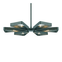 Crystorama Luna 6 Light Chandelier in Gray 596-GY