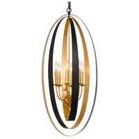 Crystorama 597-EB-GA Luna 6 Light 16 inch English Bronze and Antique Gold Pendant Ceiling Light