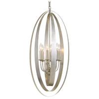 Crystorama 597-SA Luna 6 Light 16 inch Antique Silver Pendant Ceiling Light
