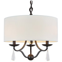 Crystorama Manning 3 Light Mini Chandelier in English Bronze 5973-EB