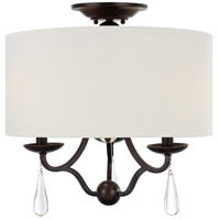Crystorama Manning 3 Light Semi Flush Mount in English Bronze 5973-EB_CEILING