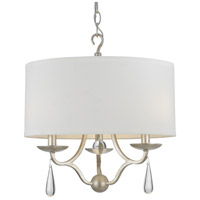 Crystorama 5973-SL Manning 3 Light 16 inch Silver Leaf Chandelier Ceiling Light in Silver Leaf (SL)