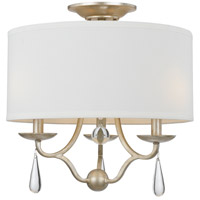 Crystorama 5973-SL_CEILING Manning 3 Light 16 inch Silver Leaf Semi Flush Mount Ceiling Light