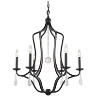 Crystorama Manning 6 Light Chandelier in English Bronze 5976-EB