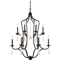 Crystorama Manning 12 Light Chandelier in English Bronze 5978-EB