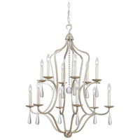 Crystorama 5978-SL Manning 12 Light 30 inch Silver Leaf Chandelier Ceiling Light in Silver Leaf (SL)