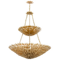 Crystorama 599-GA Broche 18 Light 40 inch Antique Gold Chandelier Ceiling Light in Antique Gold (GA)