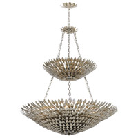 Crystorama 599-SA Broche 18 Light 40 inch Antique Silver Chandelier Ceiling Light in Antique Silver (SA)