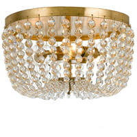 Rylee 3 Light 13 inch Antique Gold Flush Mount Ceiling Light