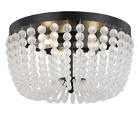 Rylee 3 Light 13 inch Matte Black Flush Mount Ceiling Light