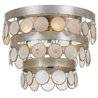 Coco 4 Light 14 inch Antique Silver Flush Mount Ceiling Light