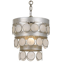 Crystorama 6003-SA Coco 1 Light 10 inch Antique Silver Mini Chandelier Ceiling Light