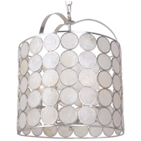 Crystorama Coco 6 Light Lantern in Antique Silver 6007-SA